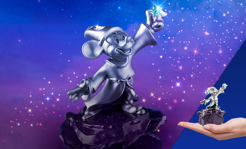 Gallery Feature Image of Limited Edition Sorcerer Mickey Musical Carousel Pewter Collectible - Click to open image gallery