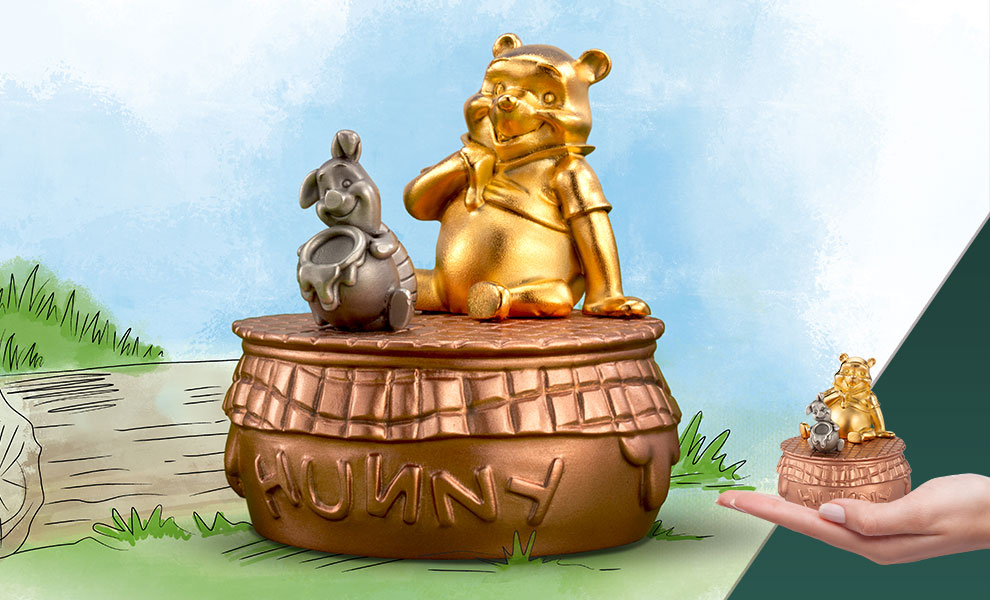 Gallery Feature Image of Winnie the Pooh Musical Carousel Pewter Collectible - Click to open image gallery