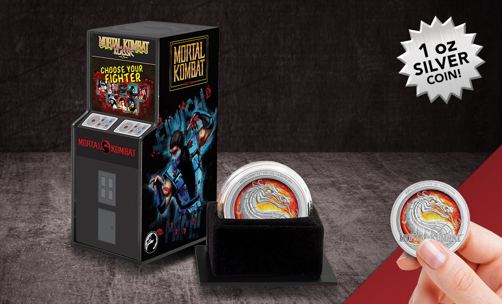 Gallery Feature Image of Mortal Kombat 1oz Silver Coin Silver Collectible - Click to open image gallery