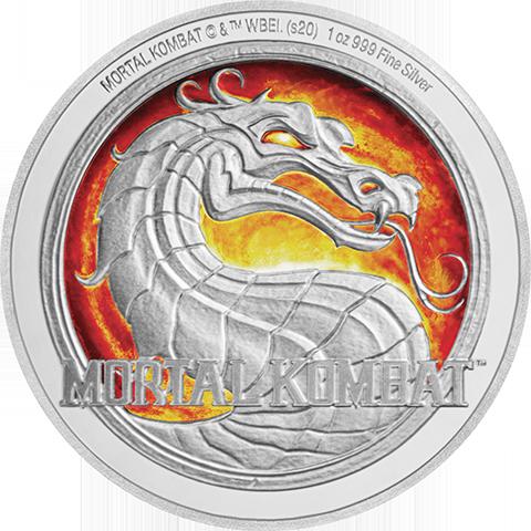 New Zealand Mint Mortal Kombat 1oz Silver Coin Silver Collectible