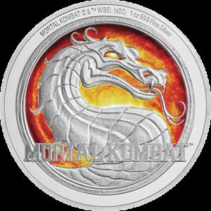 Mortal Kombat 1oz Silver Coin Silver Collectible