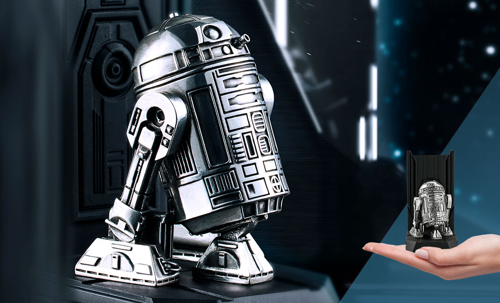 Gallery Feature Image of R2-D2 Bookend Pewter Collectible - Click to open image gallery