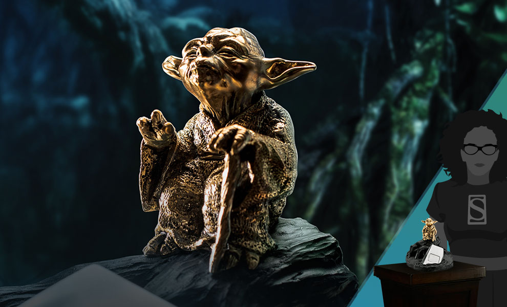 Gallery Feature Image of Yoda Jedi Master (Gilded Gold) Limited Edition Figurine Pewter Collectible - Click to open image gallery