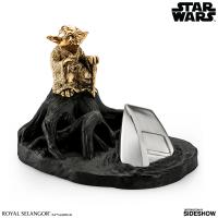 Gallery Image of Yoda Jedi Master (Gilded Gold) Limited Edition Figurine Pewter Collectible