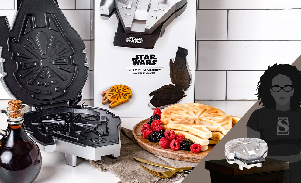 Gallery Feature Image of Deluxe Millennium Falcon Waffle Maker Kitchenware - Click to open image gallery