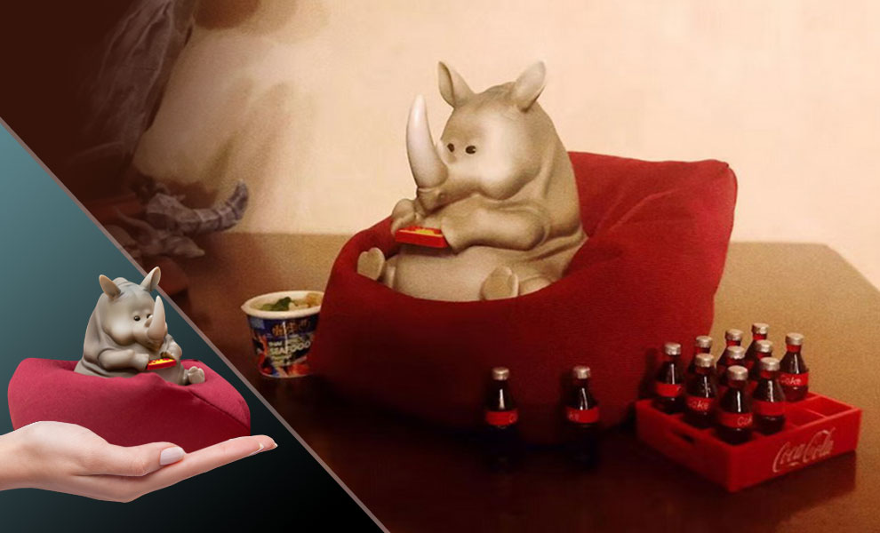 Gallery Feature Image of Rhino Figurine - Click to open image gallery
