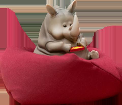 Manas SUM Rhino Figurine