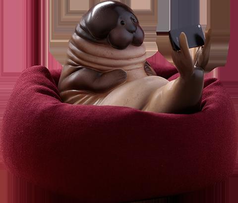 Manas SUM Seal Figurine