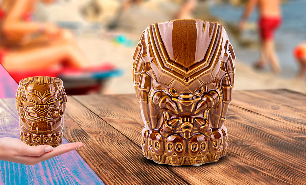 Gallery Feature Image of Predator (Mud Camo Variant) Tiki Mug - Click to open image gallery