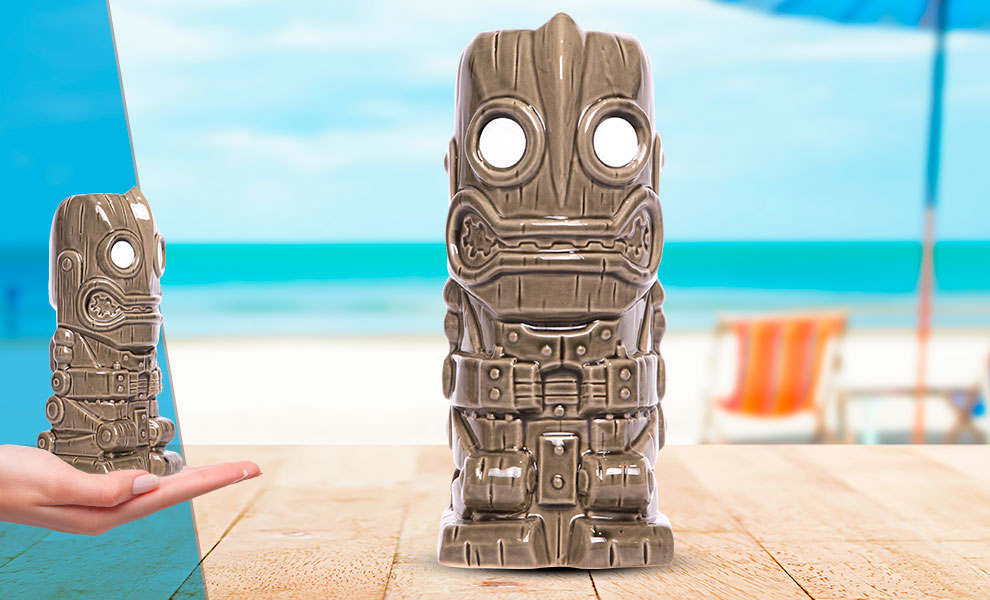 Gallery Feature Image of Iron Giant (Grey) Tiki Mug - Click to open image gallery