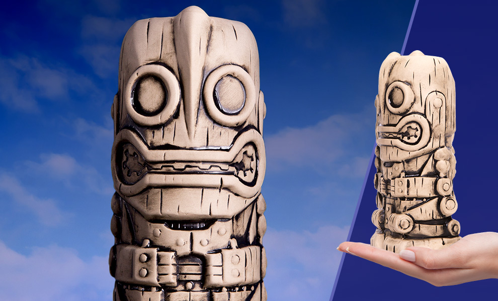 Gallery Feature Image of Iron Giant (Bone Variant) Tiki Mug - Click to open image gallery
