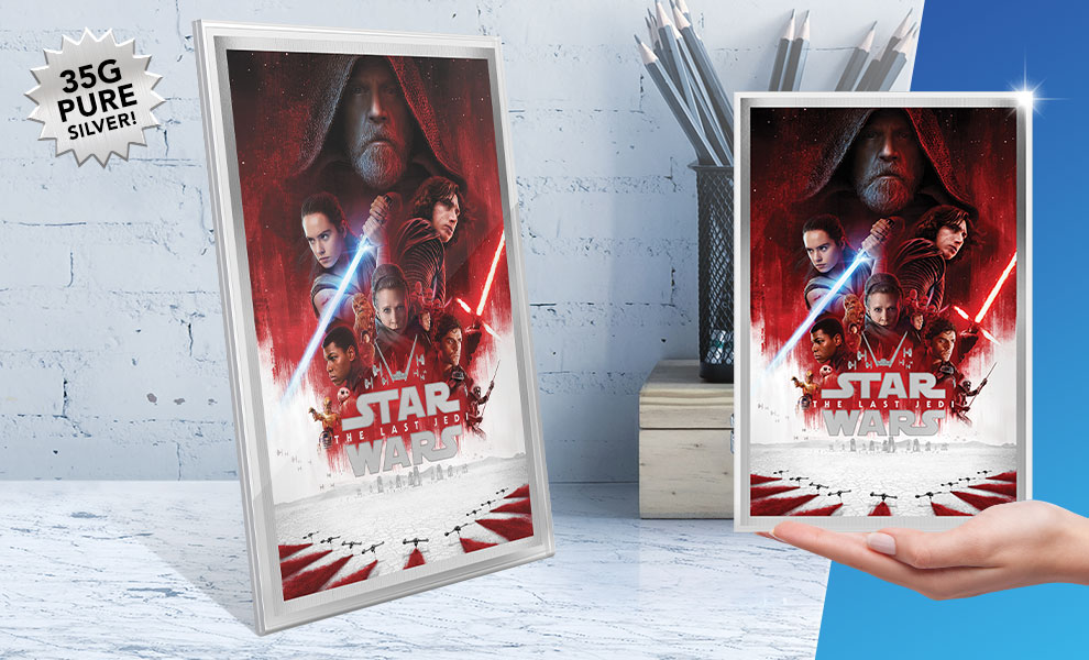 Gallery Feature Image of Star Wars: The Last Jedi Silver Foil Silver Collectible - Click to open image gallery