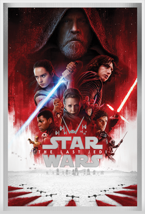 Star Wars: The Last Jedi Silver Foil Silver Collectible