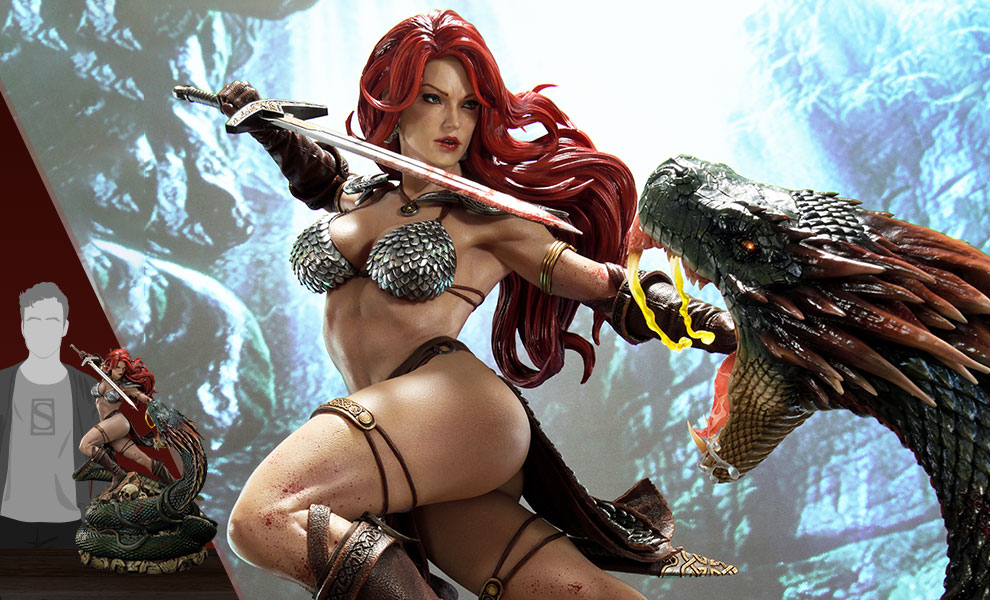 Gallery Feature Image of Red Sonja: She-Devil with a Vengeance Statue - Click to open image gallery