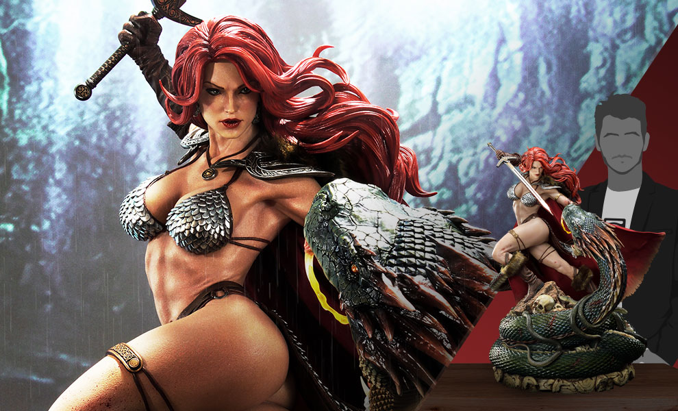Gallery Feature Image of Red Sonja: She-Devil with a Vengeance Deluxe Statue - Click to open image gallery