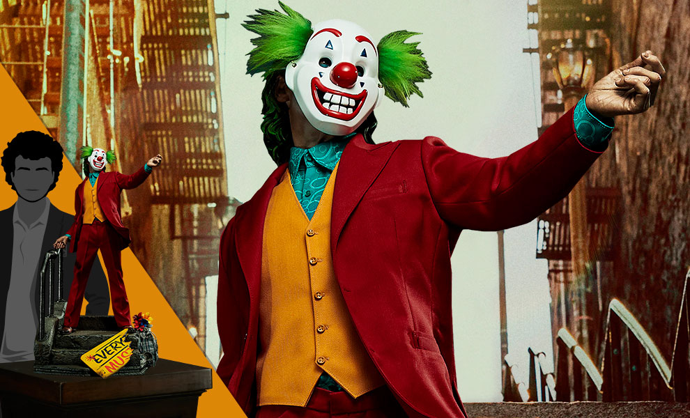 Gallery Feature Image of The Joker (Bonus Clown Mask Version) Statue - Click to open image gallery