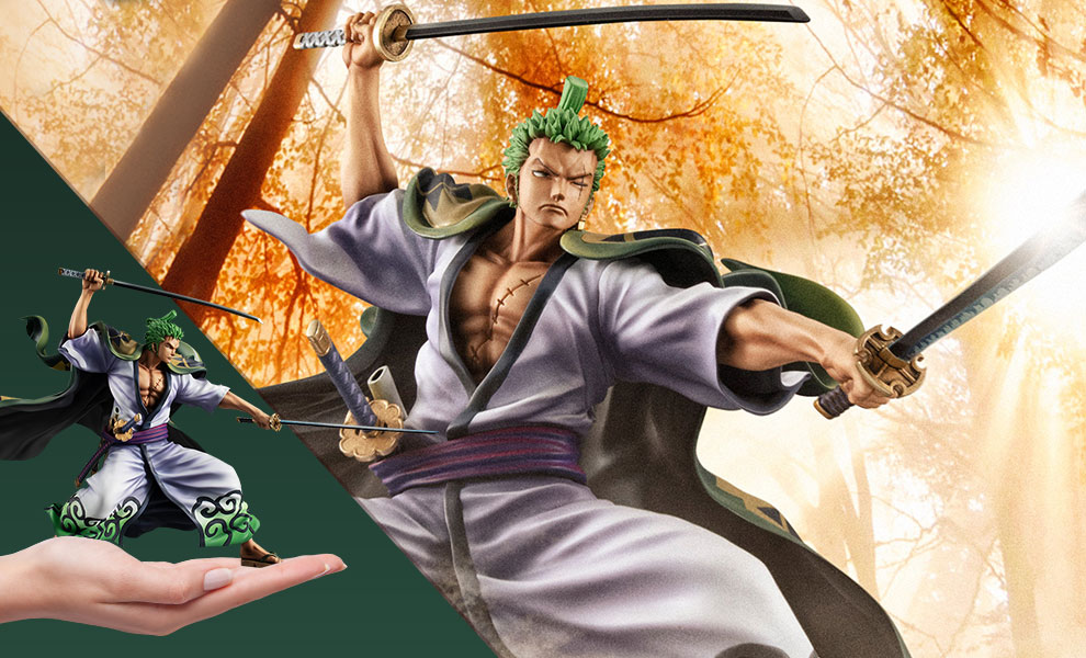 Gallery Feature Image of Portrait of Pirates Warriors Alliance Zoro (Zoro Juro) Collectible Figure - Click to open image gallery