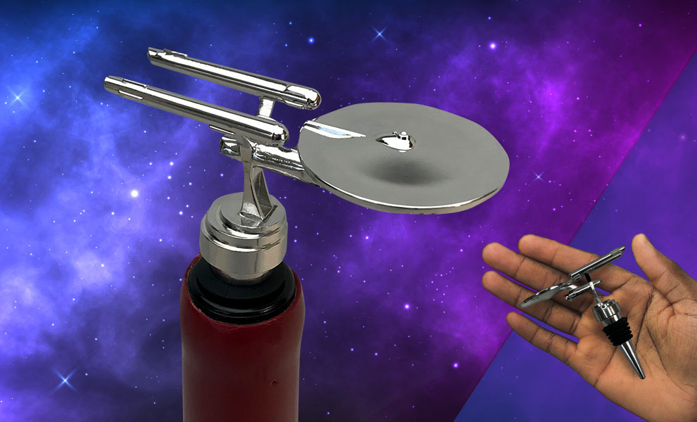 Gallery Feature Image of USS Enterprise (The Original Series) Bottle Stopper Kitchenware - Click to open image gallery