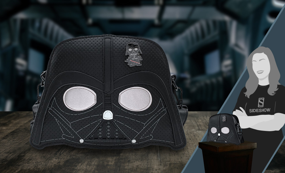 Gallery Feature Image of Darth Vader Pin Trader Crossbody Apparel - Click to open image gallery