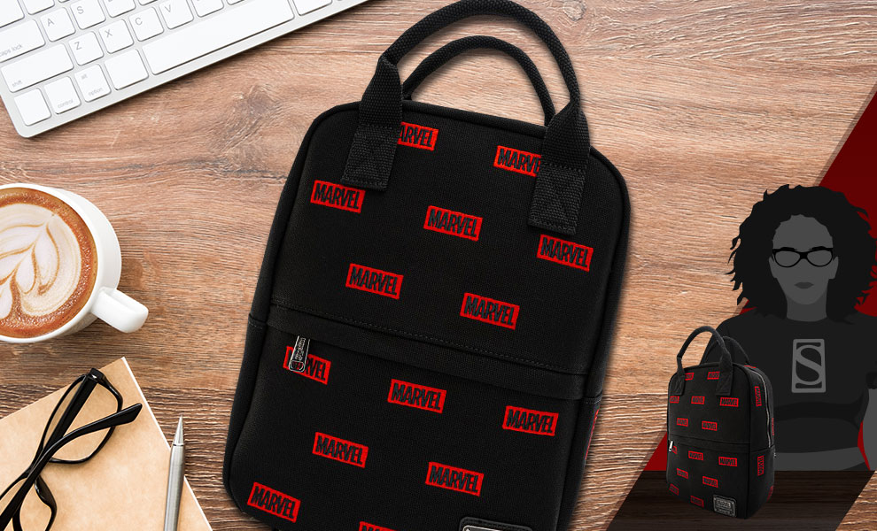 Gallery Feature Image of Marvel Logo AOP Mini Backpack Apparel - Click to open image gallery