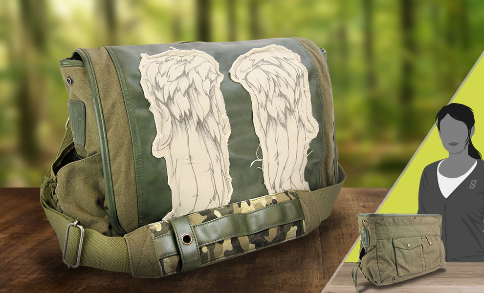 Gallery Feature Image of Daryl Wings Messenger Bag (Fatigue Green) Apparel - Click to open image gallery