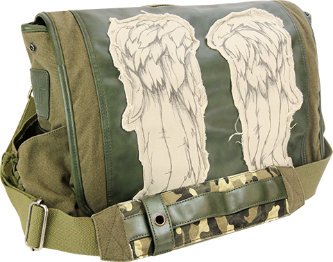 A Crowded Coop Daryl Wings Messenger Bag (Fatigue Green) Apparel