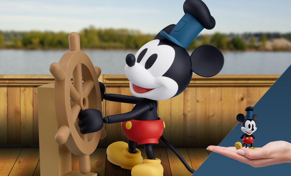 Gallery Feature Image of Mickey Mouse 1928 Version (Color) Nendoroid Collectible Figure - Click to open image gallery