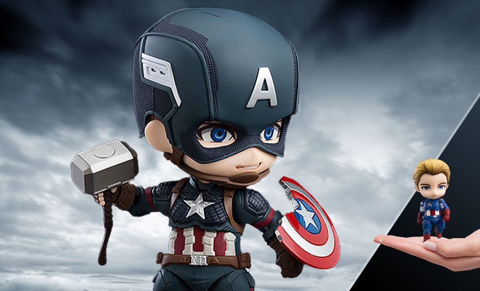 Gallery Feature Image of Captain America: Endgame Edition DX Version Nendoroid Collectible Figure - Click to open image gallery