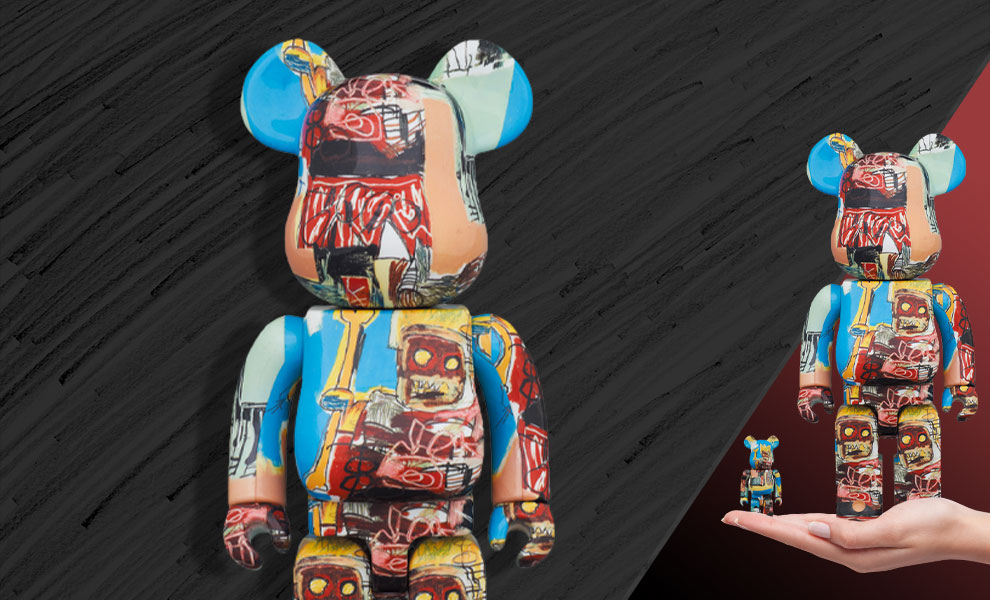 Gallery Feature Image of Be@rbrick Jean-Michel Basquiat #6 100% and 400% Collectible Set - Click to open image gallery