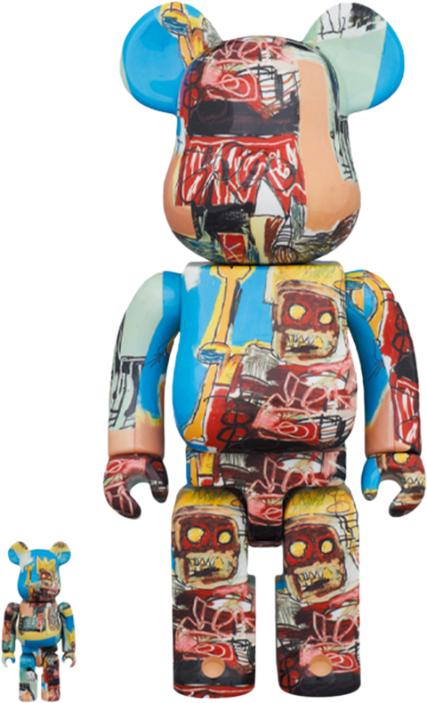 Medicom Toy Be@rbrick Jean-Michel Basquiat #6 100% and 400% Collectible Set