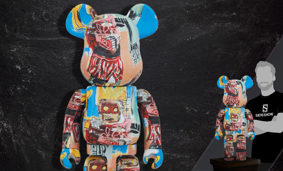 Gallery Feature Image of Be@rbrick Jean-Michel Basquiat #6 1000% Collectible Figure - Click to open image gallery