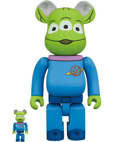 Medicom Toy Be@rbrick Alien 100% and 400% Collectible Set