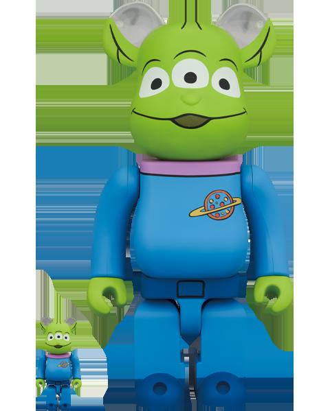 Medicom Toy Be@rbrick Alien 100% and 400% Bearbrick