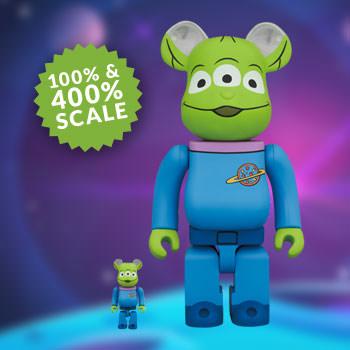 Medicom 400/% 100/% Bearbrick ~ Disney Pixar Toy Story Be@rbrick Alien