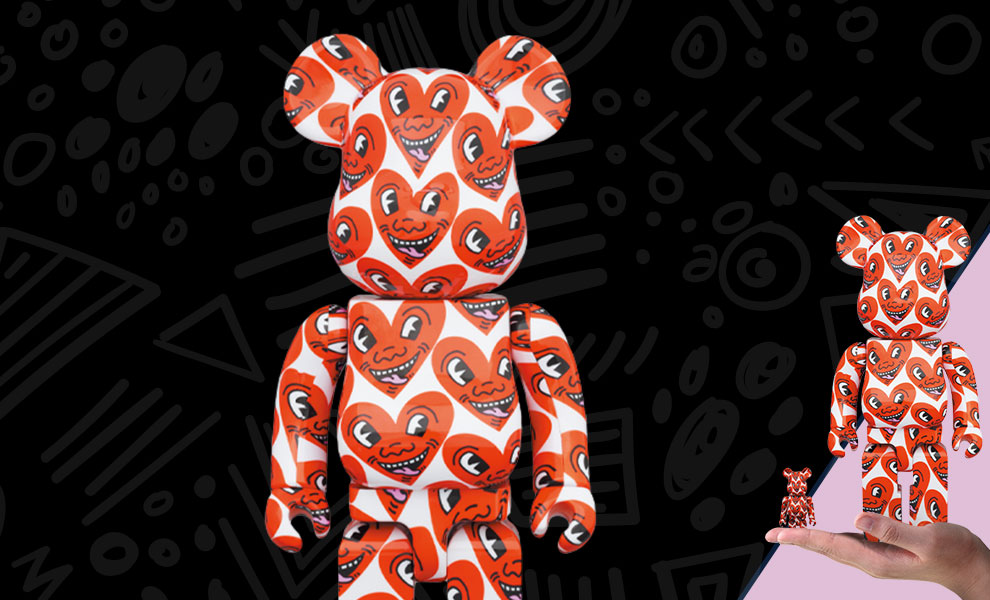 Gallery Feature Image of Be@rbrick Keith Haring #6 100% & 400% Collectible Set - Click to open image gallery