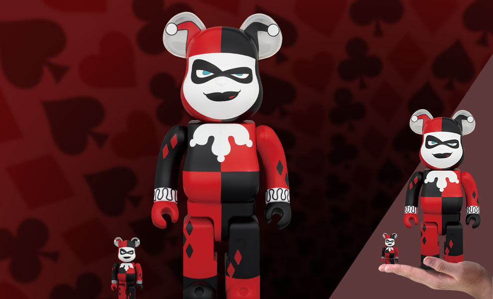 Gallery Feature Image of Be@rbrick Harley Quinn (Batman the Animated Series Version) 100% & 400% Collectible Set - Click to open image gallery