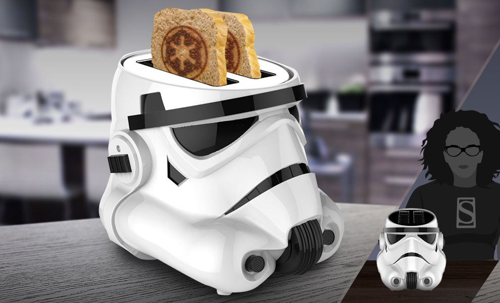 Gallery Feature Image of Stormtrooper Toaster Kitchenware - Click to open image gallery