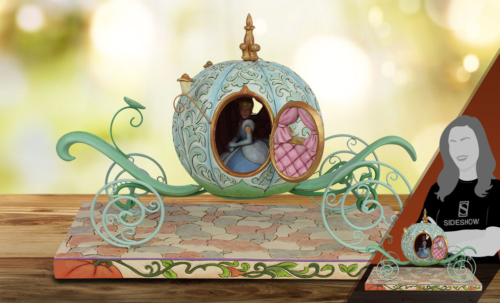 Gallery Feature Image of Pumpkin Coach with Cinderella Figurine - Click to open image gallery