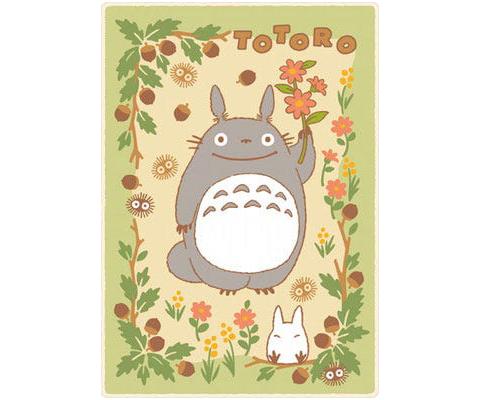 Marushin Totoro in the Sunny Forest Plush Blanket Blanket