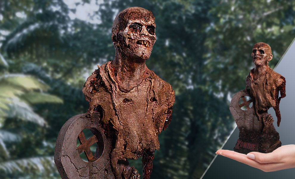 Gallery Feature Image of Fulci Zombie Poster Zombie Bust - Click to open image gallery