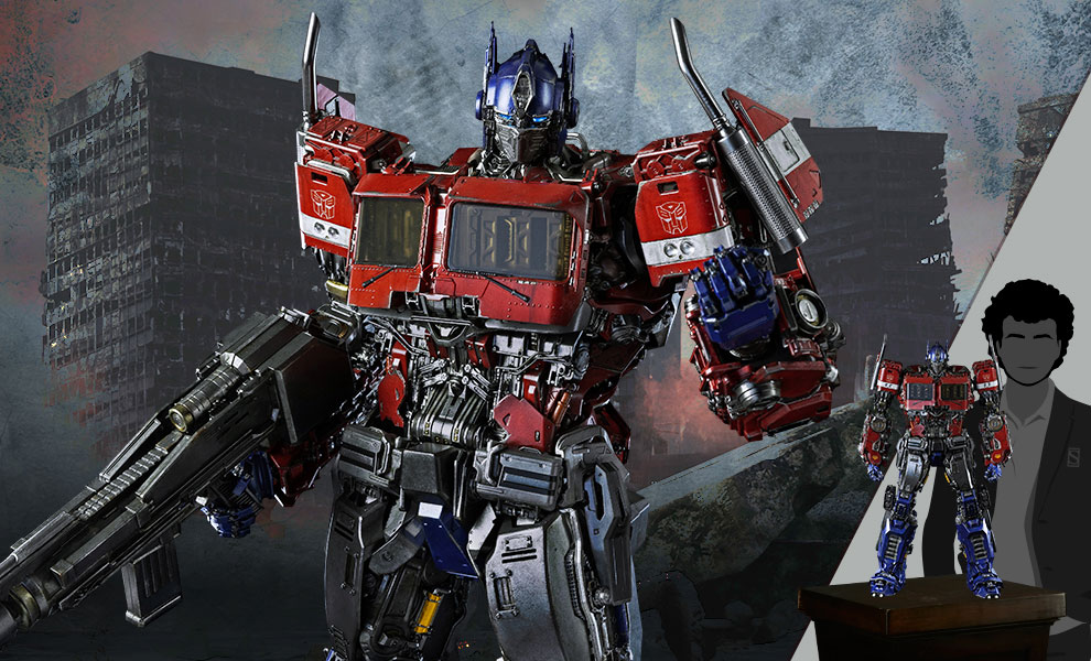 Gallery Feature Image of Optimus Prime Premium Scale Collectible Figure - Click to open image gallery