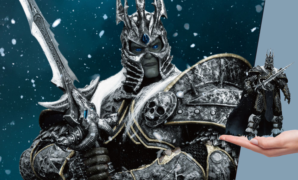 Gallery Feature Image of Wrath of the Lich King Arthas Menethil Action Figure - Click to open image gallery