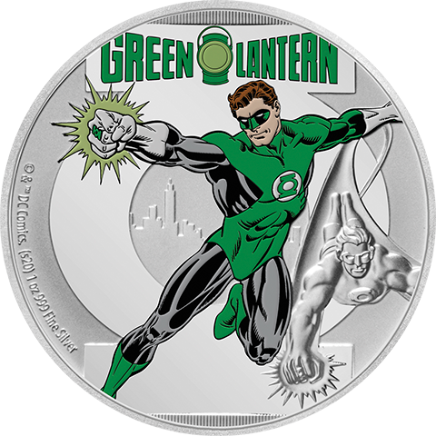 New Zealand Mint Green Lantern 1oz Silver Coin Silver Collectible