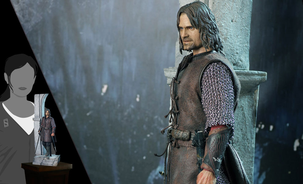 Gallery Feature Image of Aragorn at Helm's Deep Sixth Scale Figure - Click to open image gallery
