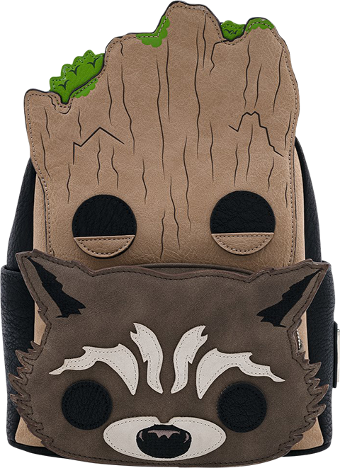 Loungefly Groot and Rocket Cosplay Mini Backpack Apparel