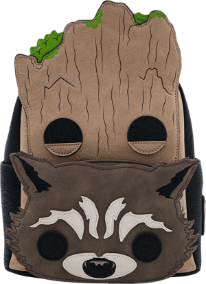 Groot and Rocket Cosplay Mini Backpack Apparel
