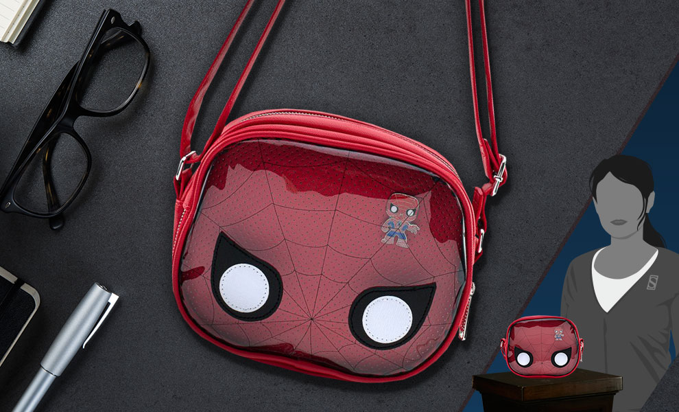 Gallery Feature Image of Spider-Man Pin Collector Crossbody Apparel - Click to open image gallery