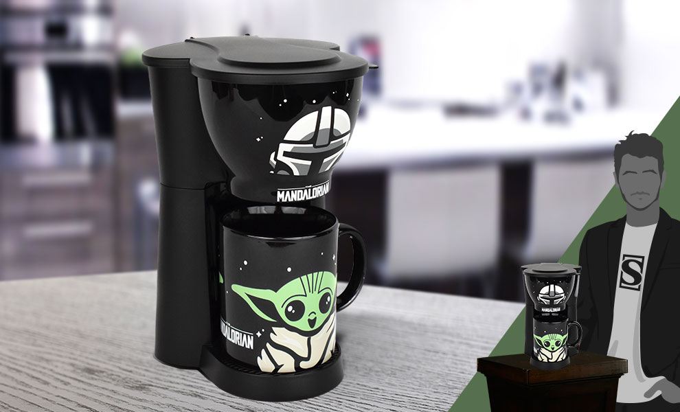 Gallery Feature Image of The Mandalorian Inline Single Cup Coffee Maker with Mug Kitchenware - Click to open image gallery
