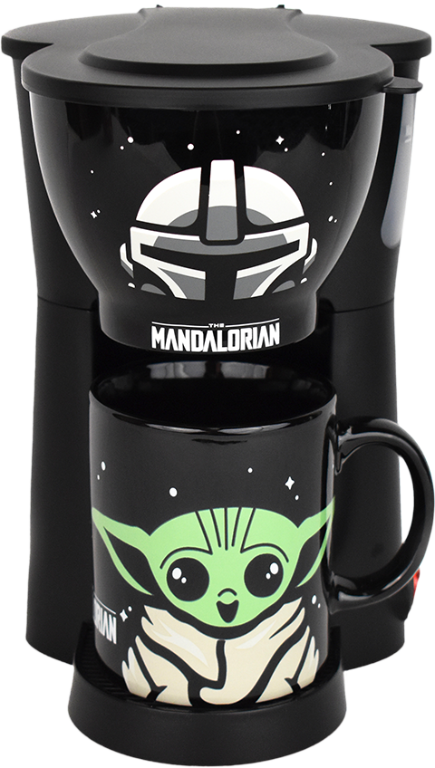 Uncanny Brands, LLC The Mandalorian Inline Single Cup Coffee Maker with Mug Kitchenware