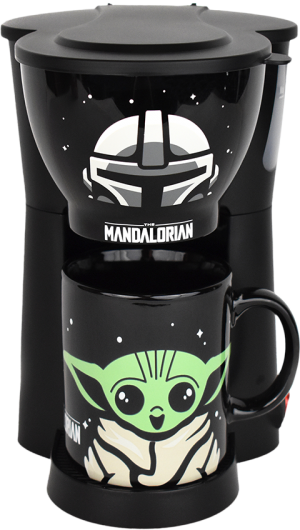 The Mandalorian Inline Single Cup Coffee Maker with Mug Kitchenware